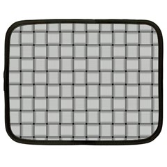 Gray Weave Netbook Case (xxl) by BestCustomGiftsForYou