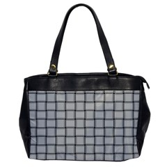 Gray Weave Oversize Office Handbag (one Side) by BestCustomGiftsForYou