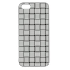 Gray Weave Apple Seamless Iphone 5 Case (clear) by BestCustomGiftsForYou
