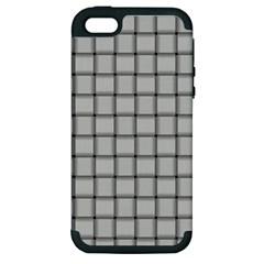 Gray Weave Apple Iphone 5 Hardshell Case (pc+silicone) by BestCustomGiftsForYou