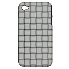 Gray Weave Apple Iphone 4/4s Hardshell Case (pc+silicone) by BestCustomGiftsForYou