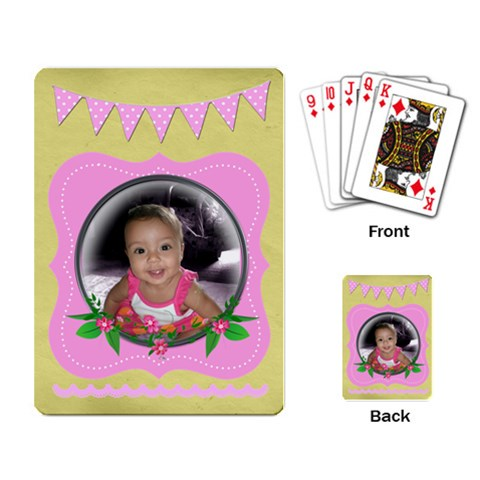 Pink Cards By Angeye   Playing Cards Single Design   Fxwfppaohrt0   Www Artscow Com Back