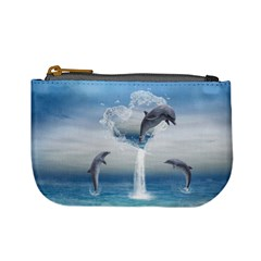 The Heart Of The Dolphins Coin Change Purse by gatterwe