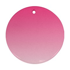 French Rose To Piggy Pink Gradient Round Ornament by BestCustomGiftsForYou