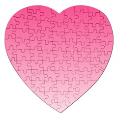 French Rose To Piggy Pink Gradient Jigsaw Puzzle (heart) by BestCustomGiftsForYou