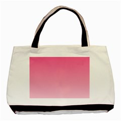 French Rose To Piggy Pink Gradient Twin Sided Black Tote Bag by BestCustomGiftsForYou