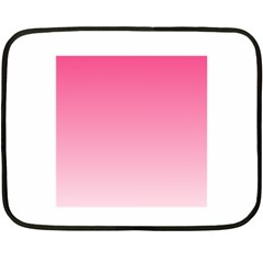 French Rose To Piggy Pink Gradient Mini Fleece Blanket (two Sided) by BestCustomGiftsForYou