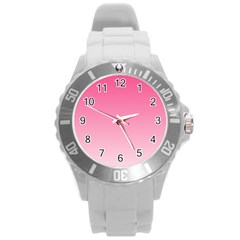 French Rose To Piggy Pink Gradient Plastic Sport Watch (large) by BestCustomGiftsForYou