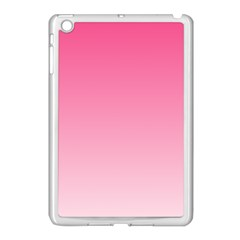 French Rose To Piggy Pink Gradient Apple iPad Mini Case (White) by BestCustomGiftsForYou