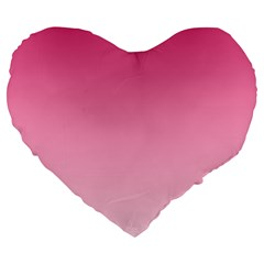 French Rose To Piggy Pink Gradient 19  Premium Heart Shape Cushion by BestCustomGiftsForYou