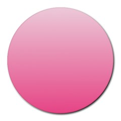 Piggy Pink To French Rose Gradient 8  Mouse Pad (round) by BestCustomGiftsForYou