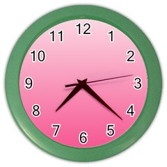 Piggy Pink To French Rose Gradient Wall Clock (color) by BestCustomGiftsForYou