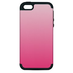 Piggy Pink To French Rose Gradient Apple Iphone 5 Hardshell Case (pc+silicone) by BestCustomGiftsForYou