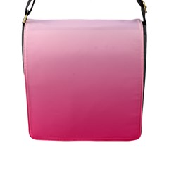 Piggy Pink To French Rose Gradient Flap Closure Messenger Bag (large) by BestCustomGiftsForYou