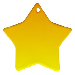 Chrome Yellow To Yellow Gradient Star Ornament by BestCustomGiftsForYou