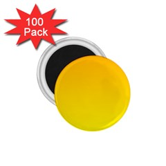 Chrome Yellow To Yellow Gradient 1 75  Button Magnet (100 Pack) by BestCustomGiftsForYou