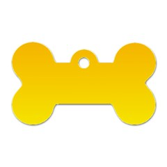 Chrome Yellow To Yellow Gradient Dog Tag Bone (one Sided) by BestCustomGiftsForYou