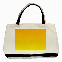 Chrome Yellow To Yellow Gradient Twin Sided Black Tote Bag by BestCustomGiftsForYou