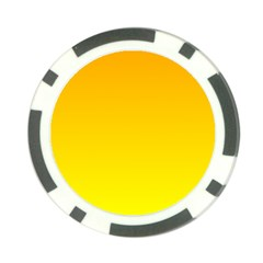 Chrome Yellow To Yellow Gradient Poker Chip by BestCustomGiftsForYou