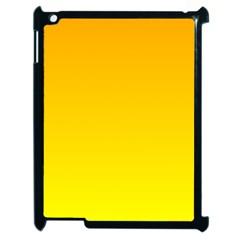 Chrome Yellow To Yellow Gradient Apple Ipad 2 Case (black) by BestCustomGiftsForYou
