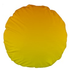 Chrome Yellow To Yellow Gradient 18  Premium Round Cushion  by BestCustomGiftsForYou