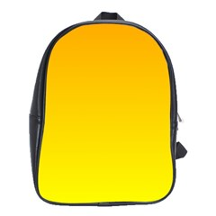 Chrome Yellow To Yellow Gradient School Bag (xl) by BestCustomGiftsForYou