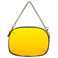 Yellow To Chrome Yellow Gradient Chain Purse (one Side) by BestCustomGiftsForYou