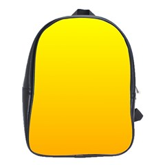 Yellow To Chrome Yellow Gradient School Bag (large) by BestCustomGiftsForYou