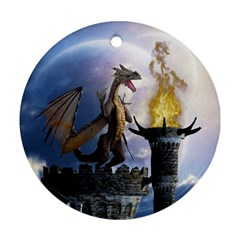 Dragon Land 2 Round Ornament by gatterwe