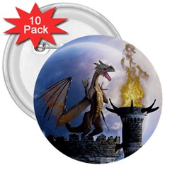 Dragon Land 2 3  Button (10 Pack) by gatterwe