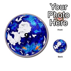 Planets By Bryan Corbett   Multi Purpose Cards (round)   A4pv9v4i9lx6   Www Artscow Com Front 9