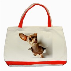 Chihuahua Classic Tote Bag (red) by cutepetshop