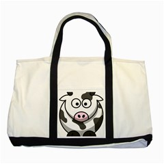 Cow Two Toned Tote Bag by cutepetshop