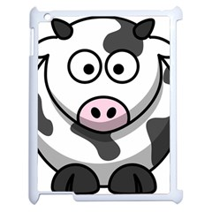 Cow Apple iPad 2 Case (White) by cutepetshop
