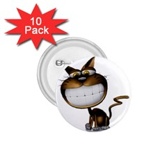 Funny Cat 1 75  Button (10 Pack)
