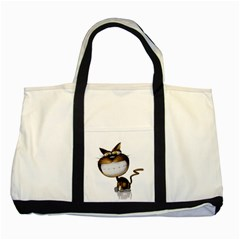 Funny Cat Two Toned Tote Bag by cutepetshop