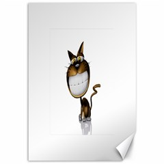 Funny Cat Canvas 12  x 18  (Unframed)