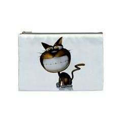 Funny Cat Cosmetic Bag (Medium) by cutepetshop