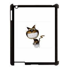 Funny Cat Apple Ipad 3/4 Case (black) by cutepetshop