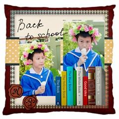 Graduation, School Life By School   Large Cushion Case (two Sides)   Q8bndn16vna7   Www Artscow Com Front