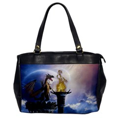Dragon Land 2 Oversize Office Handbag (one Side)