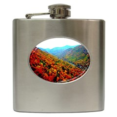 Through The Mountains Hip Flask by Majesticmountain