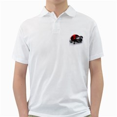 Lady Bird Mens  Polo Shirt (white) by cutepetshop