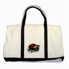 Lady Bird Two Toned Tote Bag by cutepetshop