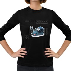 Funny Snail Womens' Long Sleeve T Shirt (dark Colored) by cutepetshop