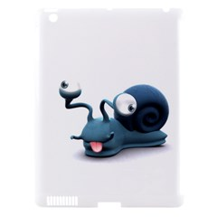 Funny Snail Apple iPad 3/4 Hardshell Case (Compatible with Smart Cover) by cutepetshop