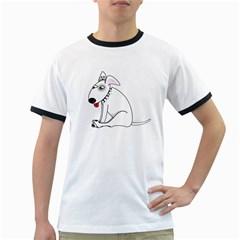 Pitbull Mens' Ringer T-shirt by cutepetshop
