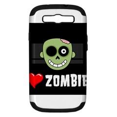 I Love Zombies Samsung Galaxy S Iii Hardshell Case (pc+silicone)