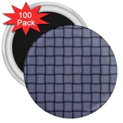 Cool Gray Weave 3  Button Magnet (100 pack) by BestCustomGiftsForYou