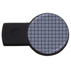 Cool Gray Weave 4gb Usb Flash Drive (round) by BestCustomGiftsForYou